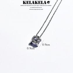 KELAKELA品牌首饰 高档气质水晶锆石吊坠锁骨项链 简约时尚配饰 送女友
