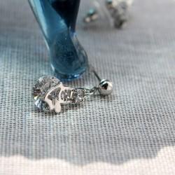 KELAKELA 韩版时尚 微镶锆石 卡通小猫水晶耳钉耳坠 新款耳环耳饰首饰 女 K178-59