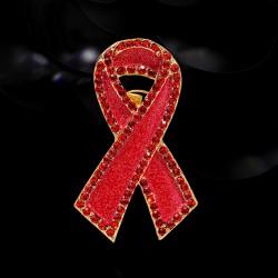 EVA颐娲 高端服装配饰品牌 粉色丝带胸针刺马针 国际艾滋病红丝带徽章纪念品 6795-50