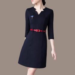 EVA颐娲 高端服装配饰品牌 时尚气质珍珠彩绘银杏叶胸针别针 6779-93