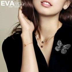 EVA颐娲 高端服装配饰品牌 个性时尚珐琅缤纷彩色蝴蝶胸针别针开衫 女 6822-100