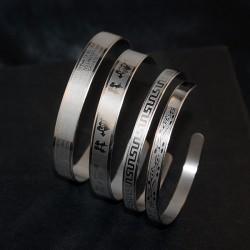 安东尼品牌外贸首饰 个性欧美大气简约复古钛钢情侣手镯 SS009-12