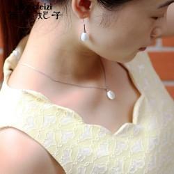 千族银 925银珍珠耳饰品 长款韩国时尚 耳环复古耳坠耳挂2014156-56