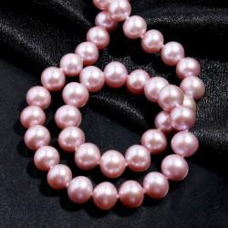 西凉妃子品牌首饰 超级保值 9-9.5mm无暇紫色天然淡水珍珠项链 女 正圆 宴会精品礼物 X007-3480