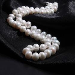 西凉妃子品牌首饰 近圆强光9-10mm天然淡水珍珠项链 送妈妈送婆婆X008-2800