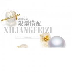 泊心云  夏季新品简约韩国时尚个性磨砂贝珍珠耳钉流苏不对称耳饰 项链套装女X657-82