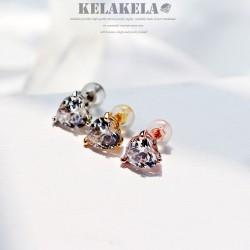 KELAKELA品牌首饰 高档爱心水晶锆石耳钉耳饰 韩国时尚气质女 送礼K320-40