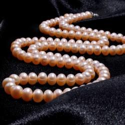 西凉妃子品牌首饰 时尚经典长款正品项链 9-9.0mm天然淡水珍珠多层双层毛衣链 925银扣 X013-3800
