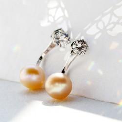 泊心云 珠宝首饰 防过敏天然淡水珍珠明星同款耳钉耳环X165