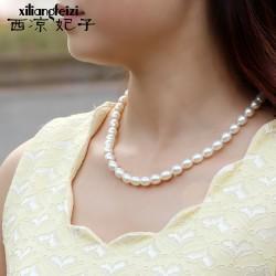 西凉妃子品牌首饰 高档贝珠珍珠项链 送妈妈礼物 X110-1080