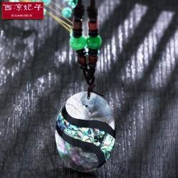 泊心云 品牌首饰 高档天然贝壳彩色长款项链 民族风毛衣链 X388-138