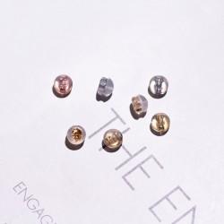 千族银首饰 S925纯银14K金真玫瑰金真白金硅胶耳塞高档耳堵(一对价格) Q191-20