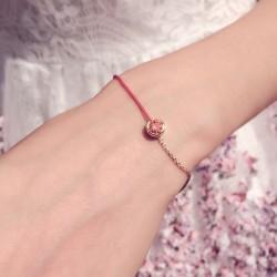 天奢TIANSHE 欧美创意新品 铜镶锆石水晶法国红绳手链脚链 大气时尚饰品 送礼物女 T007-88