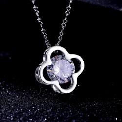 KELAKELA 日韩首饰 镂空锆石吊坠 水晶项链锁骨链 女 饰品 K326