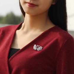 西凉妃子 时尚锆石天鹅胸针 丝巾扣胸花 女韩版西装别针流行饰品潮 X859-176