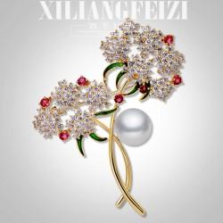西凉妃子 欧美时尚新品胸针植物花朵胸花开衫外套别针送礼物X954-219