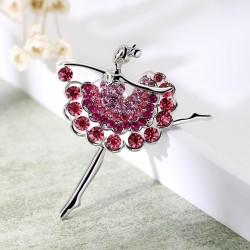 芭蕾女孩 水晶 韩版水钻胸花 胸针女款 满钻饰品礼物 5384-61