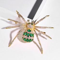 西凉妃子新款欧美霸气个性夸张微镶锆石胸花 捕猎小动物蜘蛛胸针 X1002-388