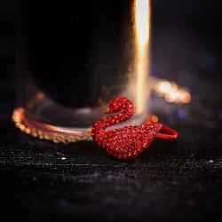 2019新款红红火火天鹅手链项链锁骨链简约百搭套装本命年新年礼物