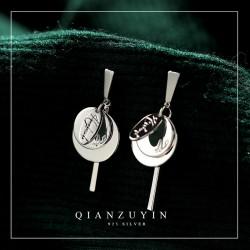 简约浮世S925纯银耳针耳钉 夸张耳坠圆形圈圈耳环耳饰品 Q285-68