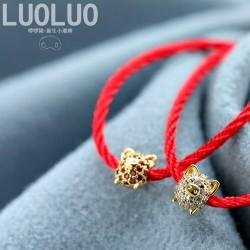 本命年时尚红绳手链 铜微镶锆石小猪生肖手绳情侣饰品新年礼 L003-88