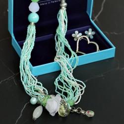 欧美复古毛衣链耳环胸针套装 百搭时尚高档珍珠配饰送礼盒