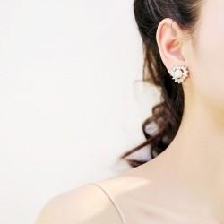 泊心云 品牌首饰 天然淡水珍珠桃心项链 速卖通爆款两件套装 情人礼物 真白金电镀 X005
