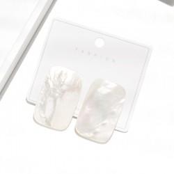 泊心云 2021年新款潮欧美时尚百搭天然海水贝壳耳钉 夸张大气热销爆款耳环 B010-80