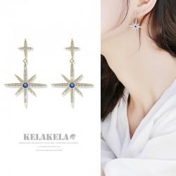 灵心造 《璀璨星空》S925银针防过敏 八芒星小众设计简约气质优雅K378-95