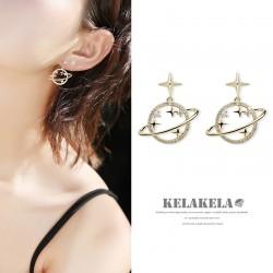灵心造 星系环绕S925银针防过敏高级感气质耳钉耳环女优雅精致 K388-80
