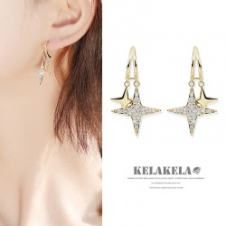 灵心造 韩国潮流ins风夜空之星S925银时尚气质耳钉耳饰女小巧个性 K387-80