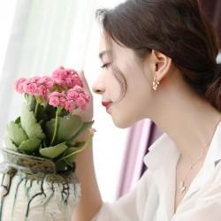泊心云 夏季新款 天然巴洛克淡水珍珠耳环 气质时尚简约耳钉个性百搭 B018-80