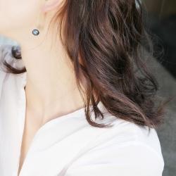 泊心云 S925纯银针 天然巴洛克淡水珍珠耳坠 长款耳环微微复古耳线 复古典雅 B017-70